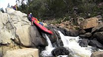 Alpine River Adventures owner River Guide Richard Swain guiding a scientific expedition on the Murrumbidgee River