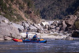 white-water kayaking below Snowy Falls, on the Snowy River